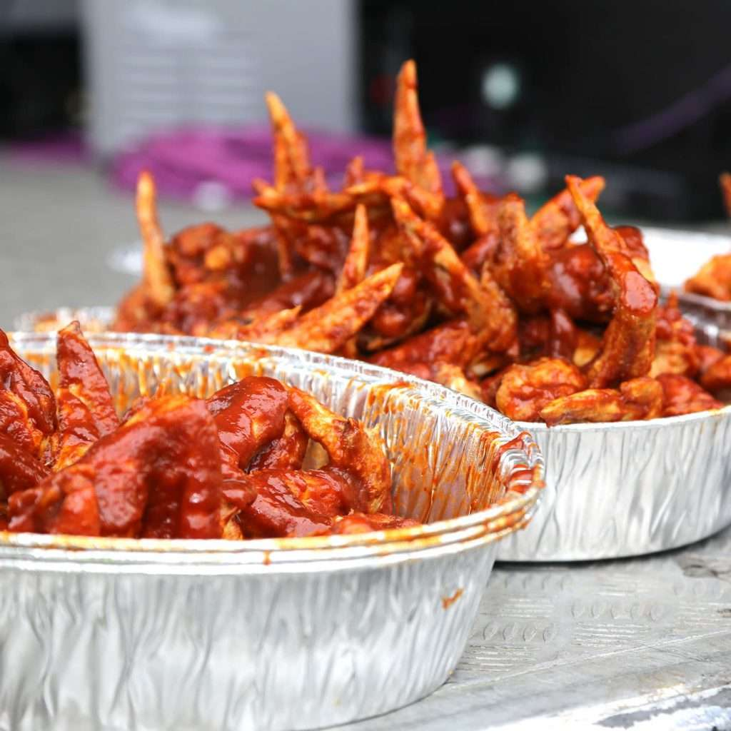 Hot and Spicy Wings at BBQ Festival