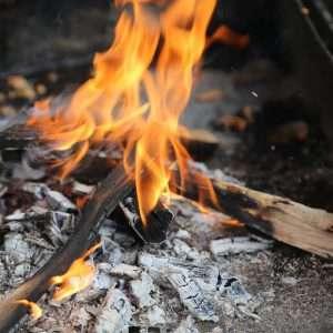BBQ Fire coals