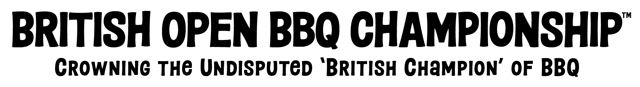 Official British Open BBQ Championship logo
