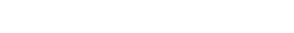 Great British Burger Challenge logo