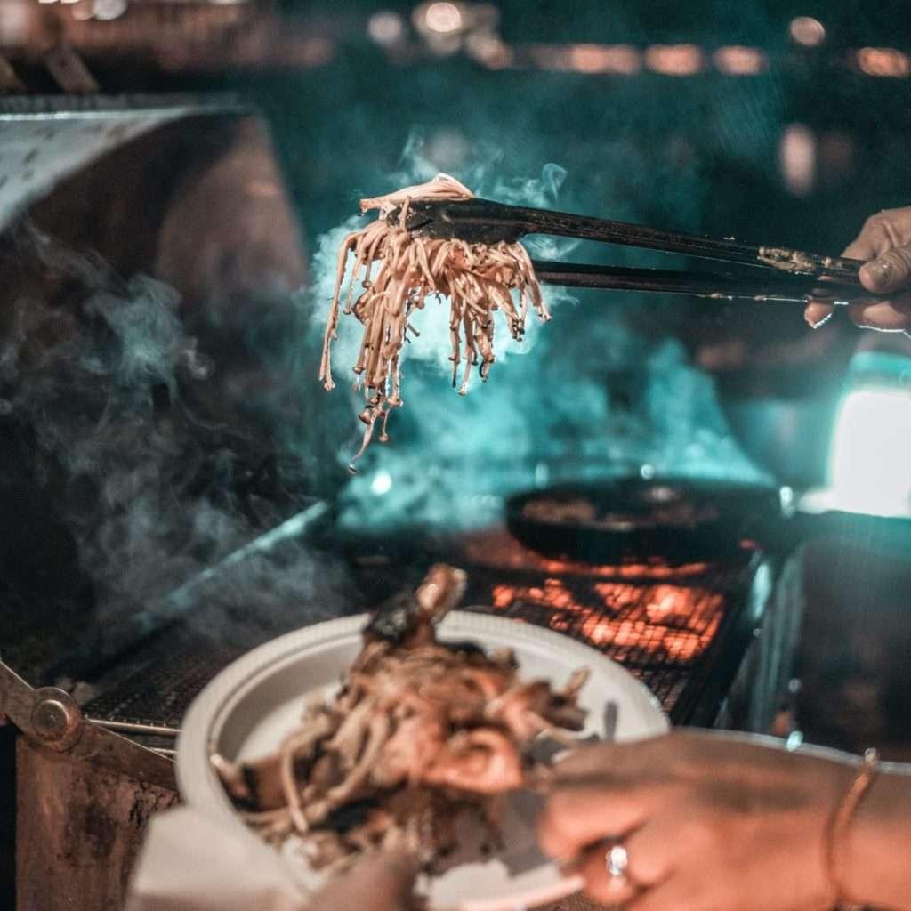 Serving BBQ